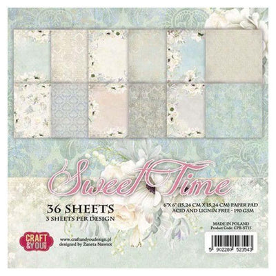Craft & You Design Sweet Time 6x6 Paper Pad