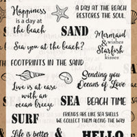 Marianne Design Stamps Beach sentiments