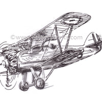 Nellie's Choice - Clear Stamp Men Things - Airplane