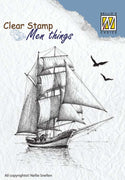 Nellie's Choice Clear Stamp Men's Things  - Sailing Boat