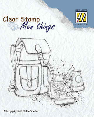 Nellie's Choice Clear Stamp Men's Things  - Backpack and Shoes