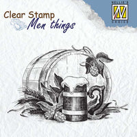 Nellie's Choice Clear Stamp Men's Things  - Beer