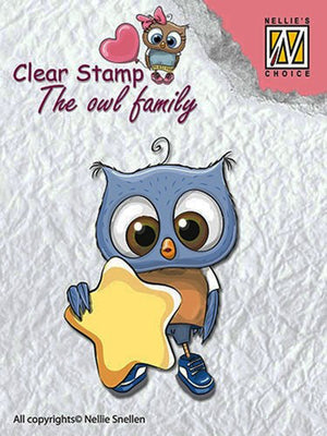 Nellie's Choice Clear Stamp The Owl Family - Star