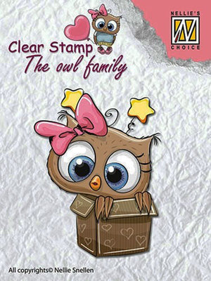 Nellie's Choice Clear Stamp The Owl Family - In the Box