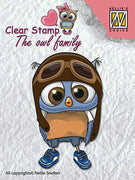Nellie's Choice Clear Stamp The Owl Family - Family Pilot