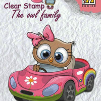 Nellie's Choice Clear Stamp The Owl Family - Family Car