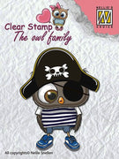 Nellie's Choice Clear Stamp The Owl Family - Family Pirate