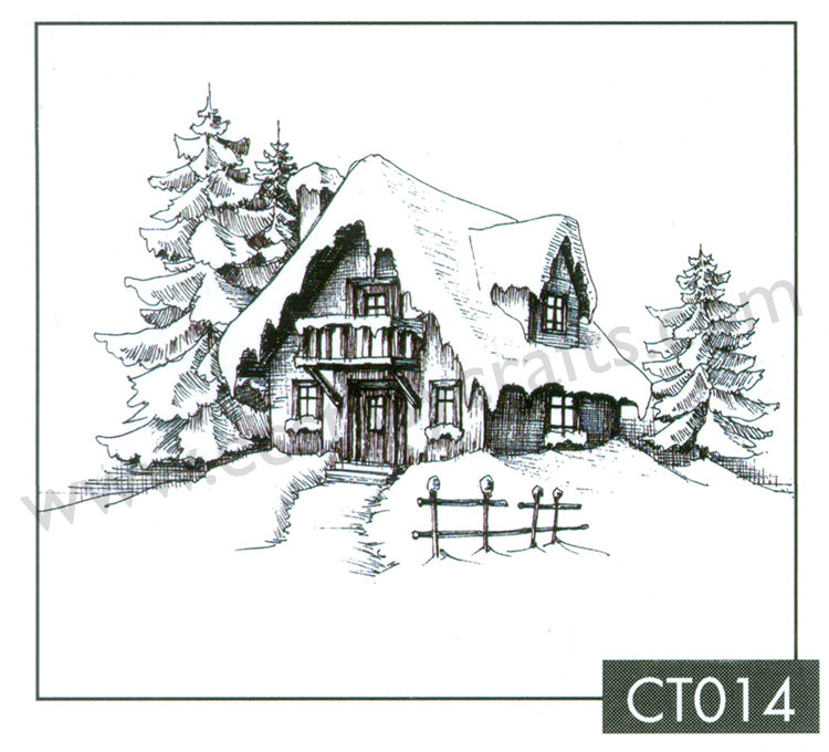 Clear Stamp - Christmas Time - Snowy House