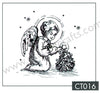 Clear Stamp - Christmas Time - Little Angel Decorating