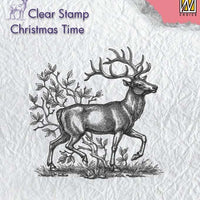 Nellie's Choice Clear Stamp Christmas Time - Reindeer