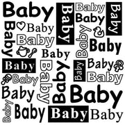 Nellie's Choice 6x6 Embossing Folder - Baby Text