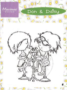 Clear Stamps - Don & Daisy-Sharing Ice Cream Soda