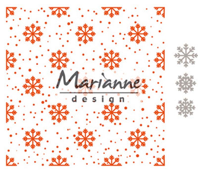 Marianne Design Embossing Folder Extra - Snow And Ice Crystals