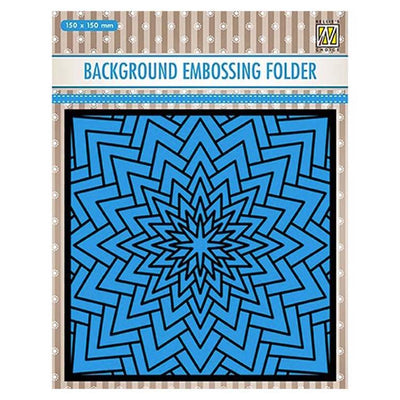 Nellie's Choice Background Embossing Folder - Big Star
