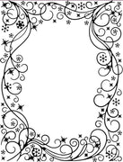 Creative Expressions - Embossing Folder - Wintery Frame 5 3/4 x 7 1/2
