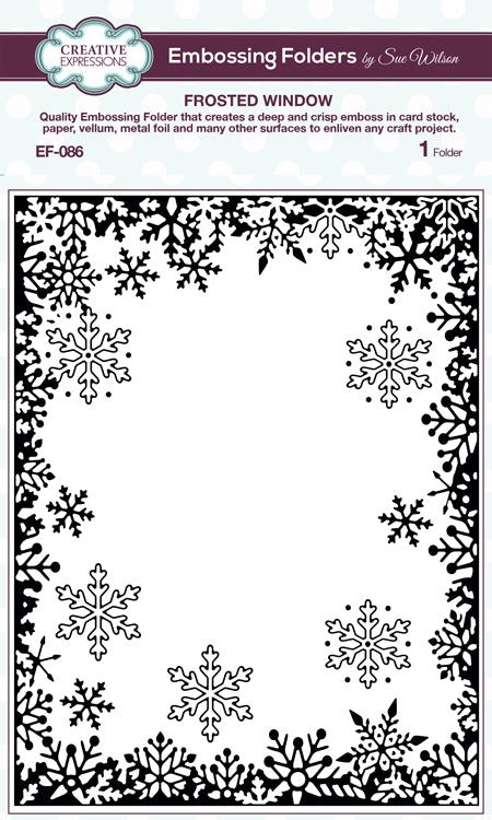 Creative Expressions - Embossing Folder - 5 3/4 x 7 1/2 Frosted Window