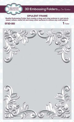 Creative Expressions - Embossing Folder -  5 3/4 x 7 1/2 Opulent Frame