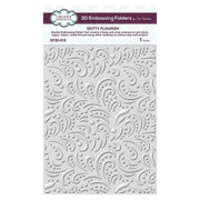 3D Embossing Folder 5 3/4 x 7 1/2 Dotty Flourish