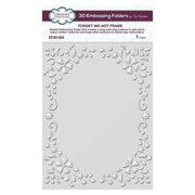 3D Embossing Folder 5 3/4 x 7 1/2 Forget-me-not Frame