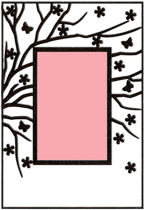 Embossing Folder - Spring in the air (Rectangle)