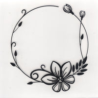 Nellie's Choice Embossing Folder - Decorative Circle Flower