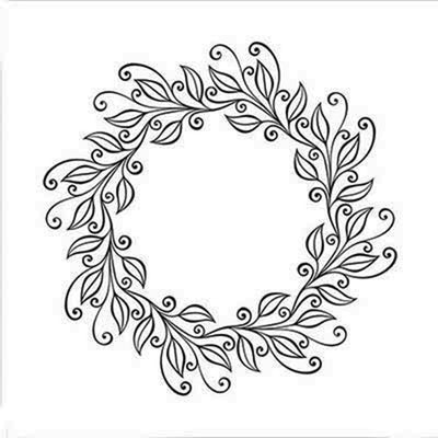 Nellie's Choice Embossing Folder - Wreath Leaves