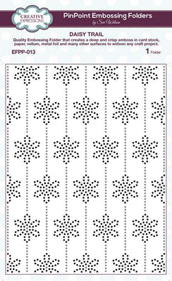Creative Expressions - Embossing Folder - 5 3/4 x 7 1/2 Daisy Trail