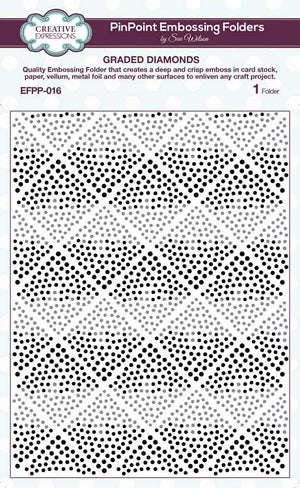Creative Expressions - Embossing Folder - 5 3/4 x 7 1/2 Graded Diamonds