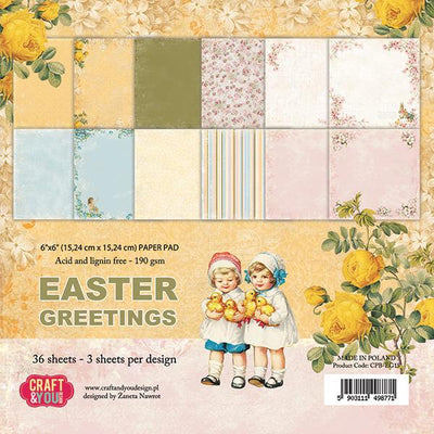 Craft & You Design Easter Greetings 6x6 Paper Pad