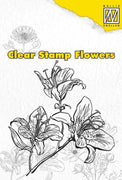 Nellie's Choice Clear Stamp Flowers - Lily