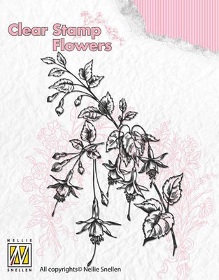 Nellie's Choice Clear Stamp Flowers - Fuchsia