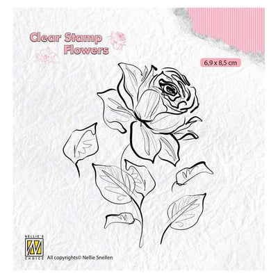 Nellie's Choice Clear Stamp Flowers - Rose
