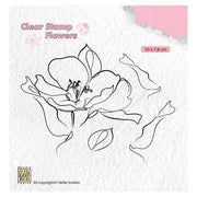 Nellie's Choice Clear Stamp Flowers - Wild Rose