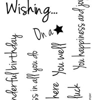 Frantic Stamper Clear Stamp - Set - Wishing