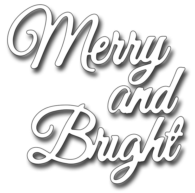Frantic Stamper Cutting Die - Merry and Bright
