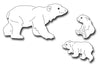 Frantic Stamper Cutting Die - Polar Bear and Cubs