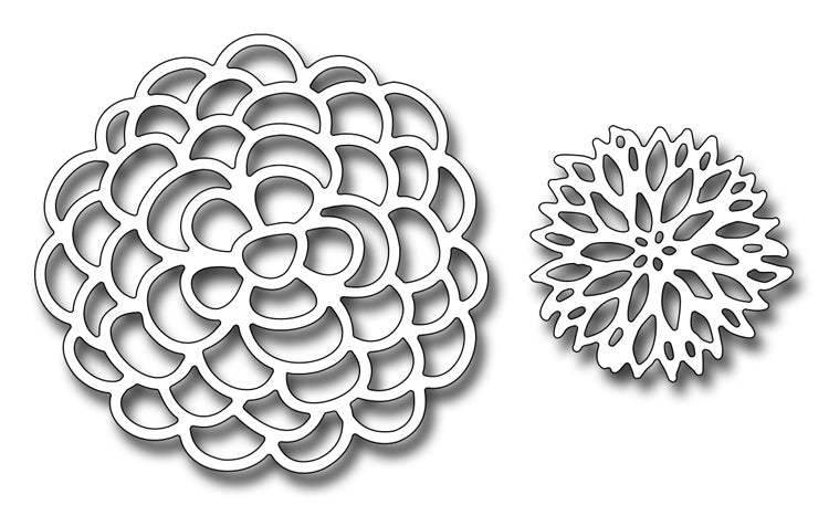 Frantic Stamper Cutting Die - Lacey Blooms Two