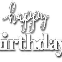 Frantic Stamper Cutting Die - Jumbo Mixed Font Happy Birthday