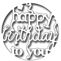 Frantic Stamper Cutting Die - Reverse Cut Happy Birthday To You Circle