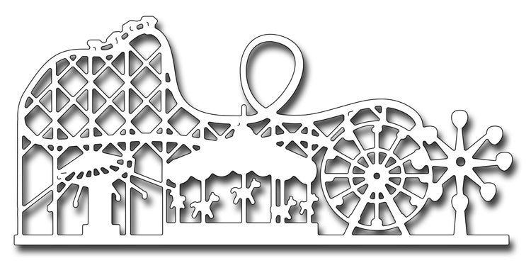 Frantic Stamper Cutting Die - Amusement Park Skyline