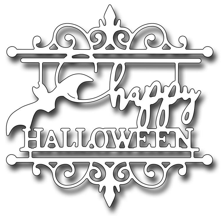 Frantic Stamper Cutting Die - Happy Halloween Medallion