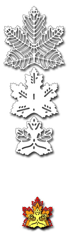Frantic Stamper Cutting Die - Stacking Maple Leaves
