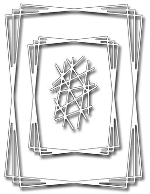 Frantic Stamper Cutting Die - Rectangle Tangled Frames