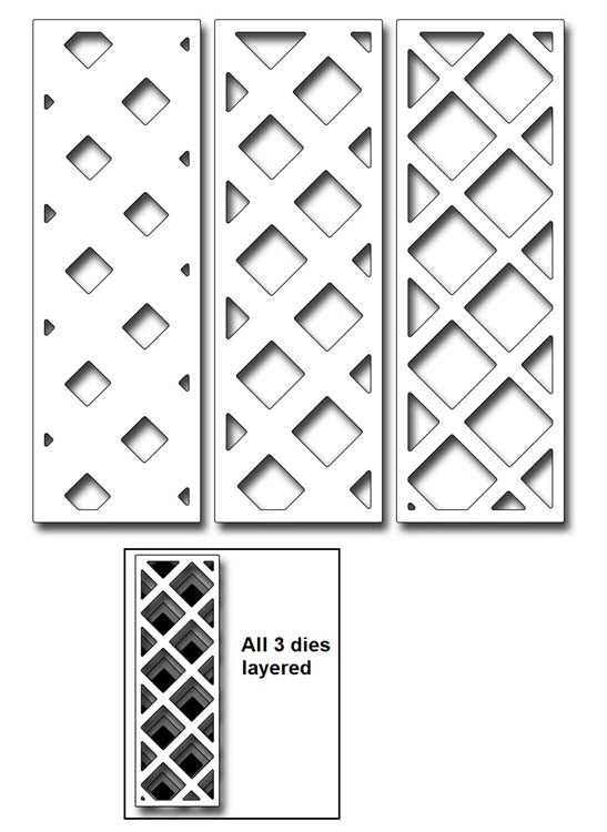 Frantic Stamper Cutting Die - Layering Trellis Strips