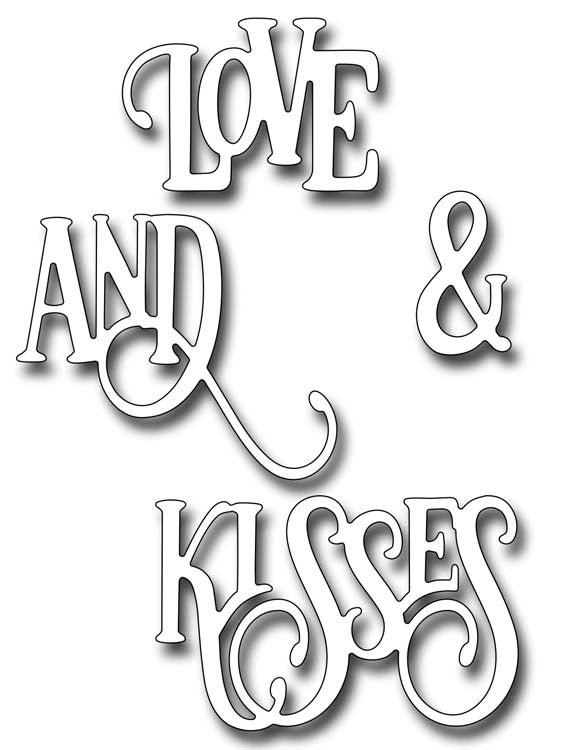 Frantic Stamper Cutting Die - Love And Kisses