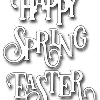 Frantic Stamper Cutting Die - Elegant Happy Spring Easter Words