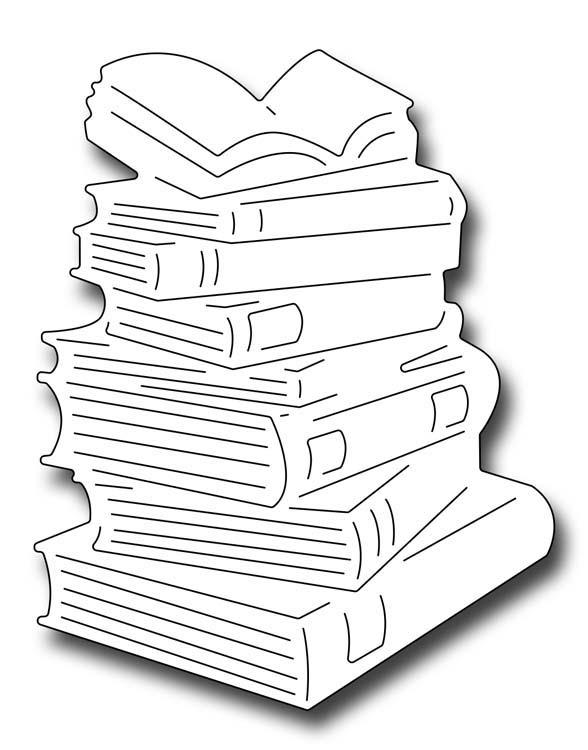 Frantic Stamper Cutting Die - Stack of Books