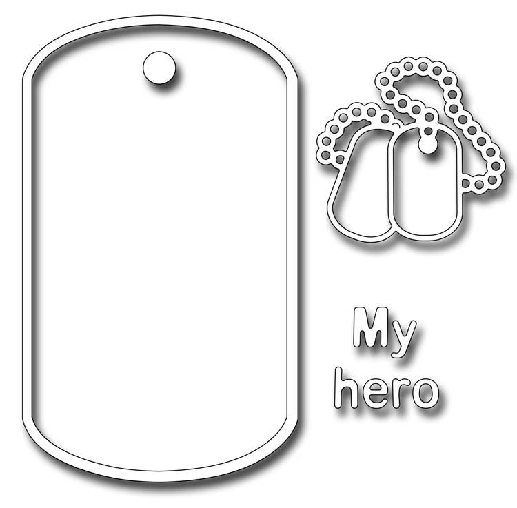 Frantic Stamper Cutting Die - Dog Tags