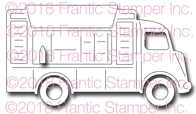 Frantic Stamper Cutting Die - Food Truck