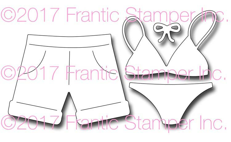 Frantic Stamper Cutting Die - Swimsuits